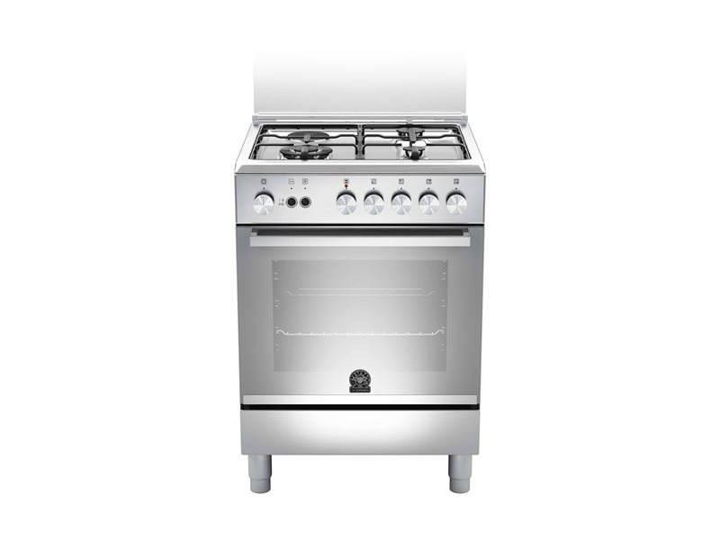 60 3-Burners 1-Hotplate Gas Oven DX | Bertazzoni La Germania - Stainless