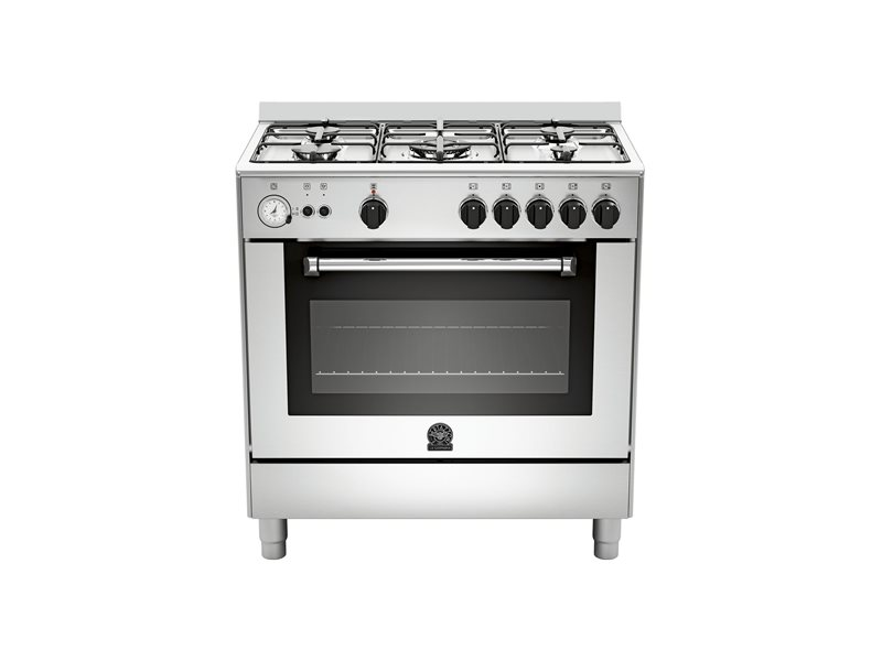 80X50 5-Burners Gas Oven Electric Grill CX | Bertazzoni La Germania - Stainless