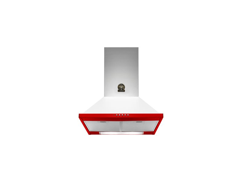 60 Wallmount Canopy Hood | Bertazzoni La Germania - Red