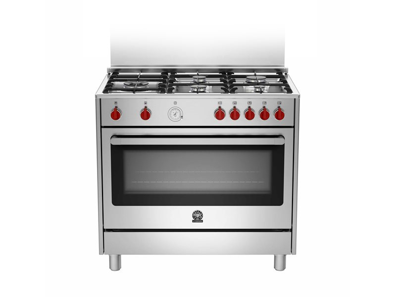 90 5-Burners Gas Oven CX | Bertazzoni La Germania - Stainless