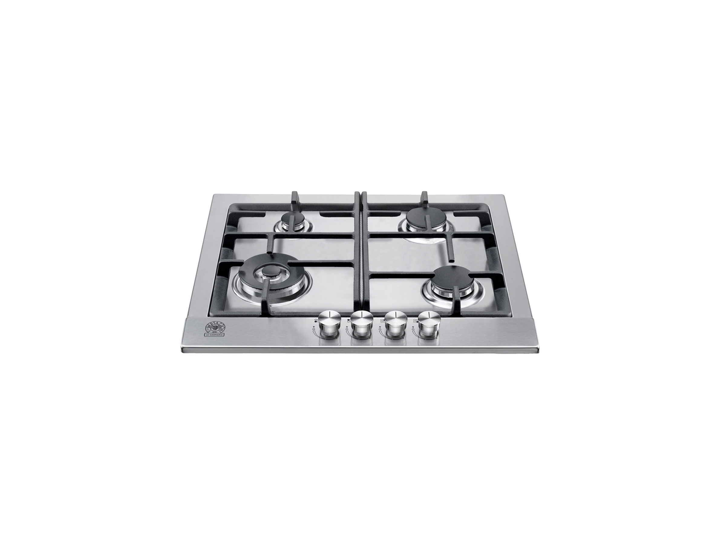 60 4-Burners Squared Pan Support | Bertazzoni La Germania - Stainless