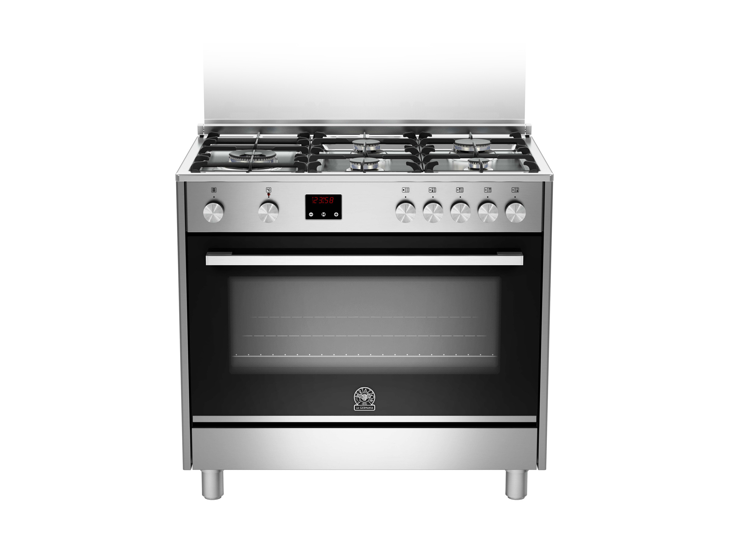 90 5-Burners Gas Oven Electric Grill CX | Bertazzoni La Germania - Stainless