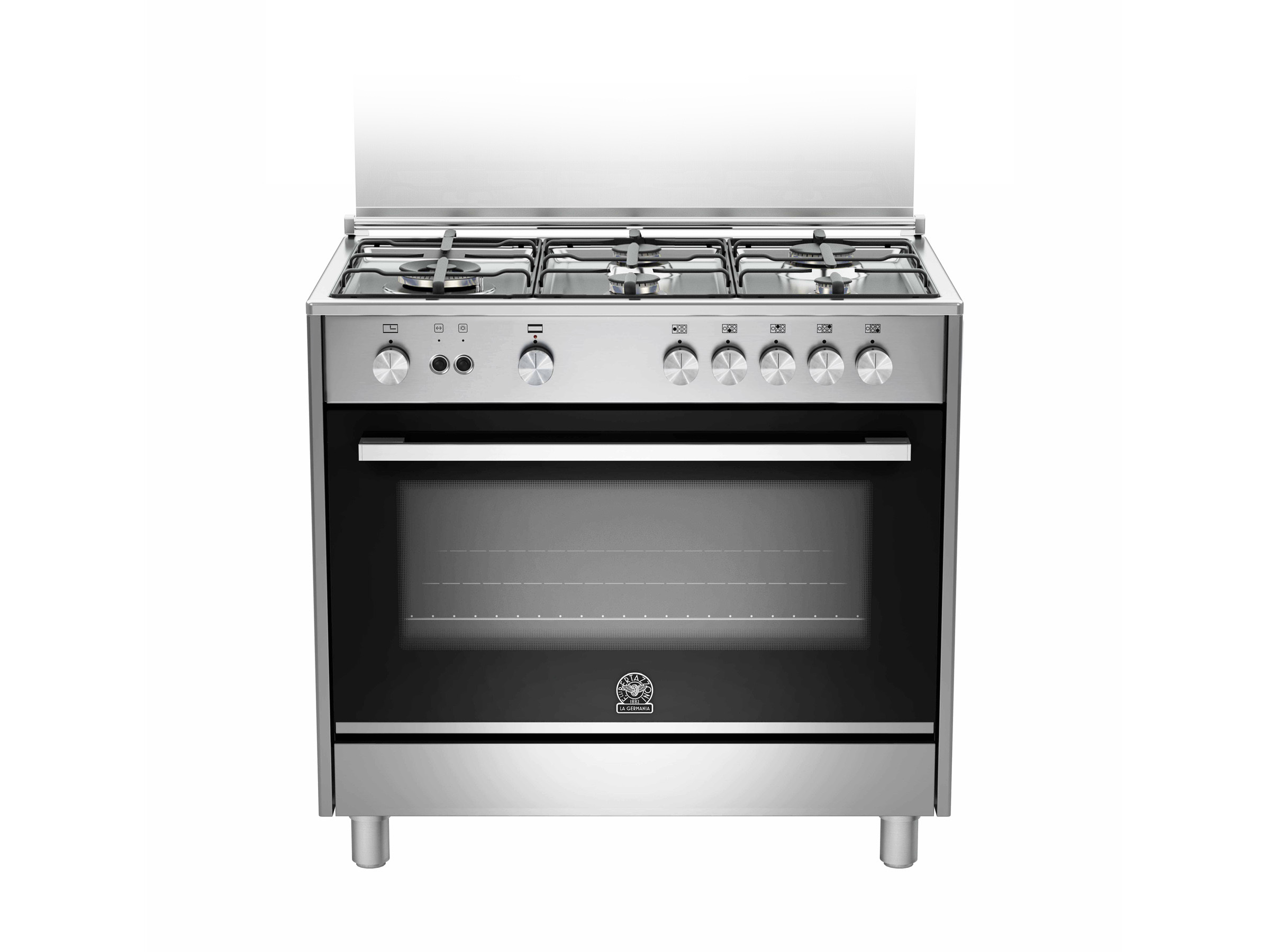 90 5-Burners Gas Oven Electric Grill DX | Bertazzoni La Germania - Stainless